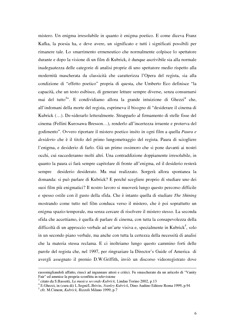 Anteprima della tesi: The Shining e la sua organizzazione spazio-temporale, Pagina 2