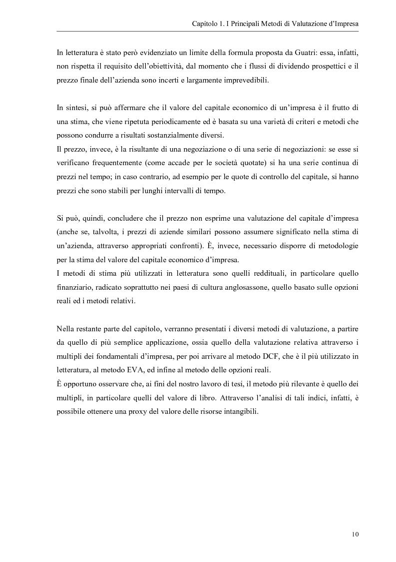 Anteprima della tesi: Il contributo dei fattori intangibili nella valutazione d'impresa, Pagina 10