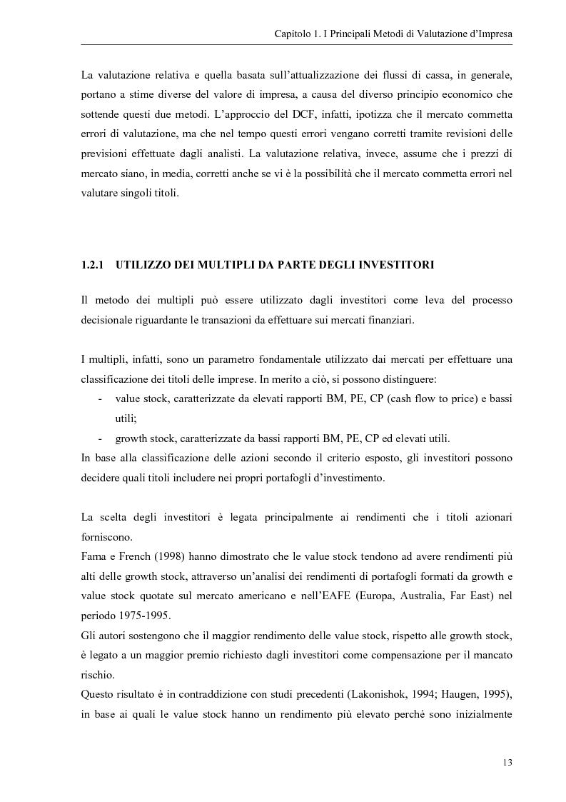 Anteprima della tesi: Il contributo dei fattori intangibili nella valutazione d'impresa, Pagina 13