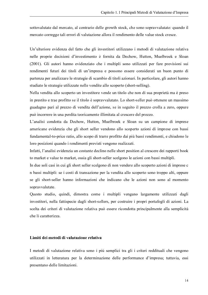 Anteprima della tesi: Il contributo dei fattori intangibili nella valutazione d'impresa, Pagina 14