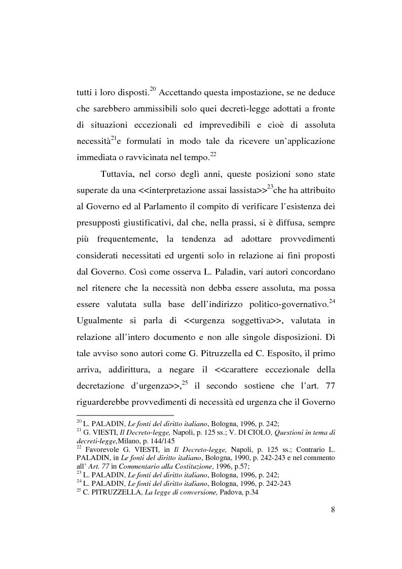 Anteprima della tesi: Decreto-legge Regionale: la riemersione di una vecchia ipotesi ed i suoi profili costituzionali, Pagina 10