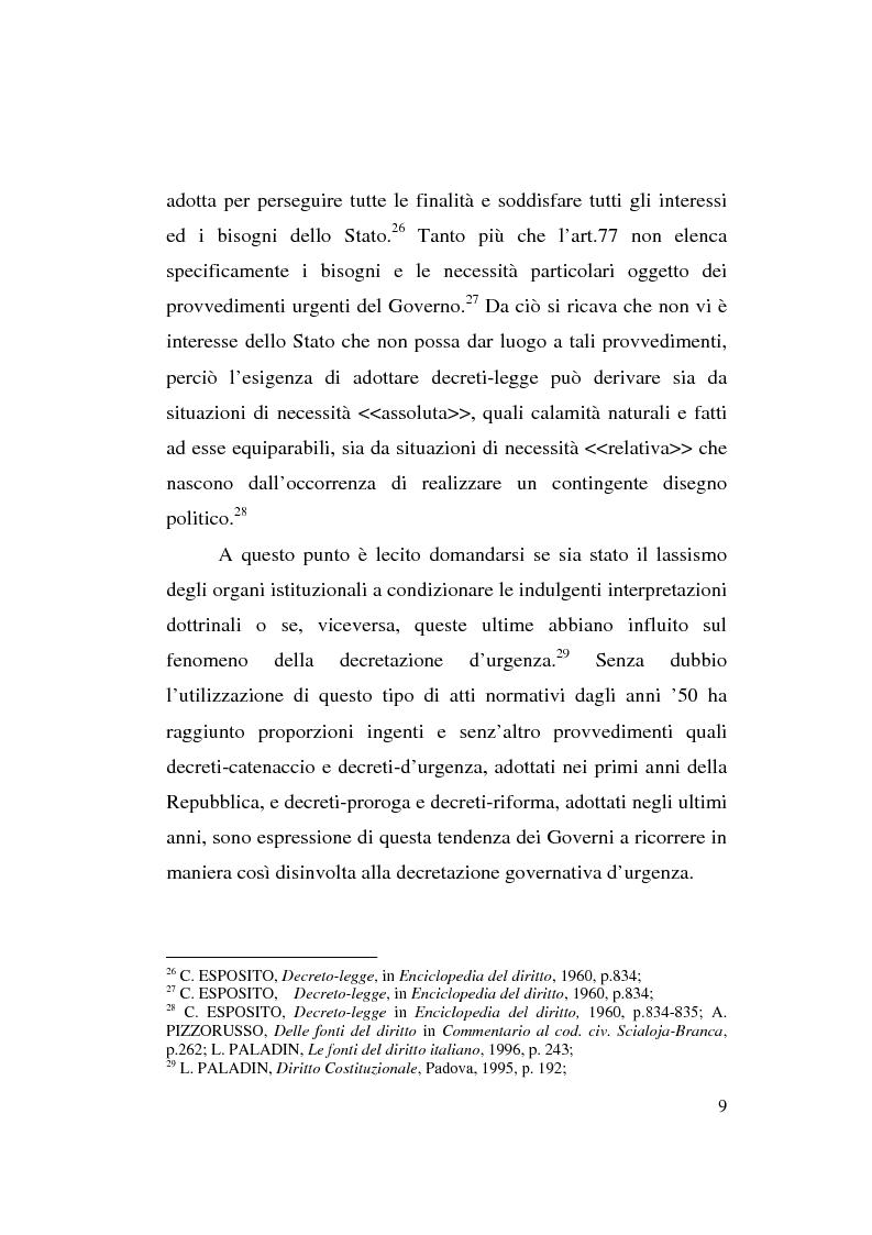 Anteprima della tesi: Decreto-legge Regionale: la riemersione di una vecchia ipotesi ed i suoi profili costituzionali, Pagina 11