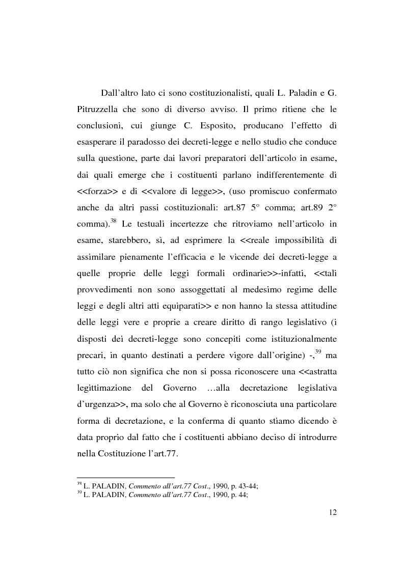 Anteprima della tesi: Decreto-legge Regionale: la riemersione di una vecchia ipotesi ed i suoi profili costituzionali, Pagina 14