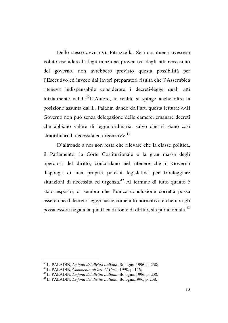 Anteprima della tesi: Decreto-legge Regionale: la riemersione di una vecchia ipotesi ed i suoi profili costituzionali, Pagina 15