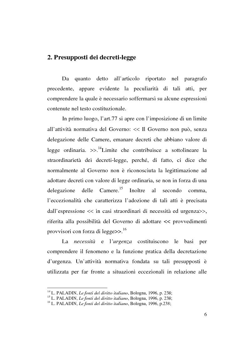 Anteprima della tesi: Decreto-legge Regionale: la riemersione di una vecchia ipotesi ed i suoi profili costituzionali, Pagina 8