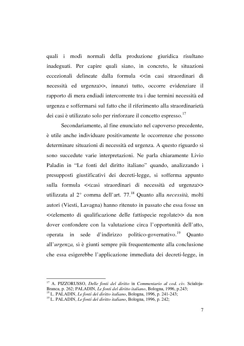 Anteprima della tesi: Decreto-legge Regionale: la riemersione di una vecchia ipotesi ed i suoi profili costituzionali, Pagina 9
