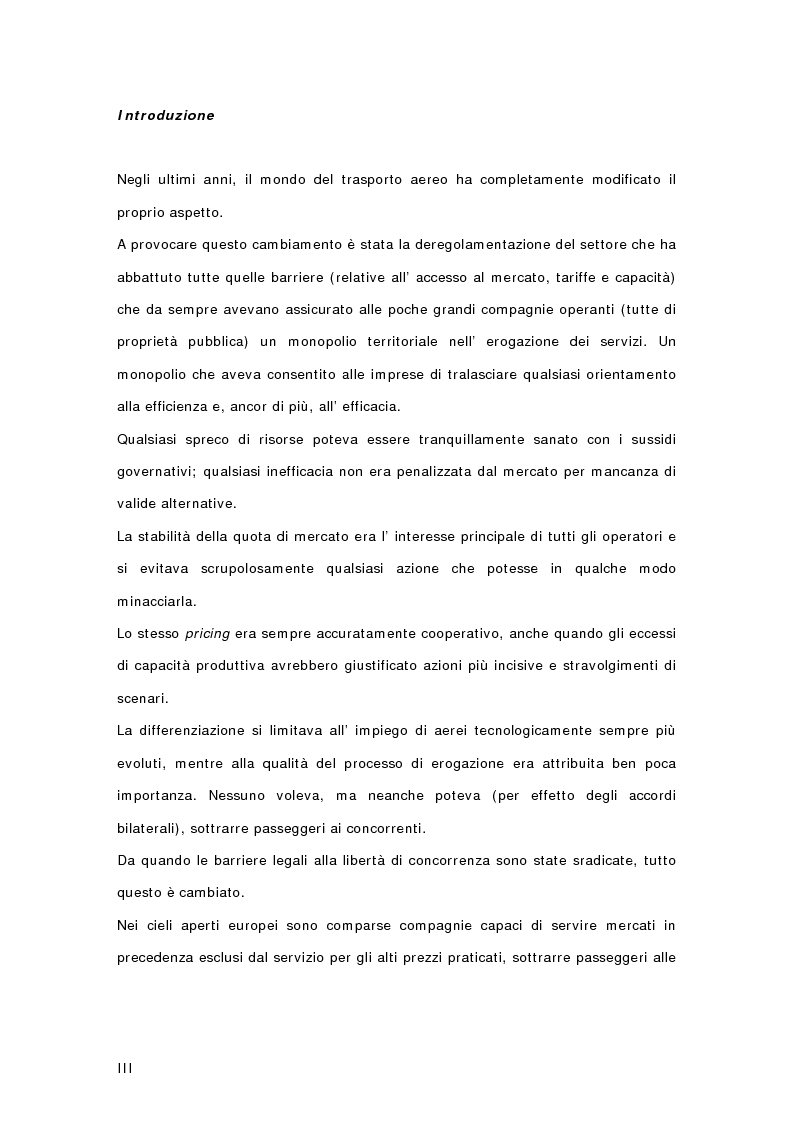 Anteprima della tesi: Controllo di gestione e risk management nelle imprese di trasporto aereo. Il caso Gandalf, Pagina 1