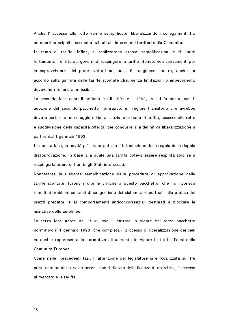 Anteprima della tesi: Controllo di gestione e risk management nelle imprese di trasporto aereo. Il caso Gandalf, Pagina 12