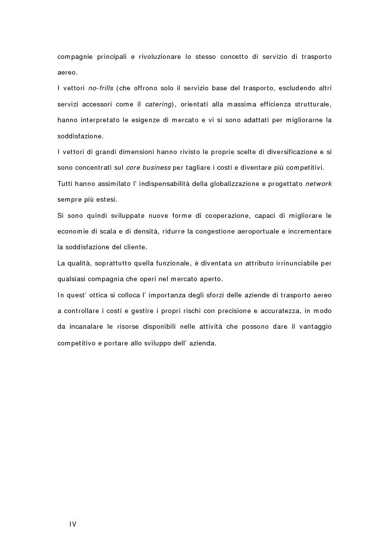 Anteprima della tesi: Controllo di gestione e risk management nelle imprese di trasporto aereo. Il caso Gandalf, Pagina 2