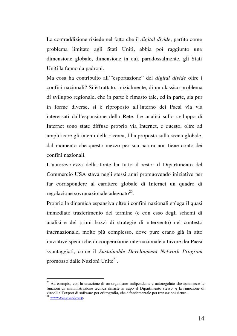 Anteprima della tesi: La multidimensionalità del digital divide e il ruolo della Pubblica Amministrazione, Pagina 13