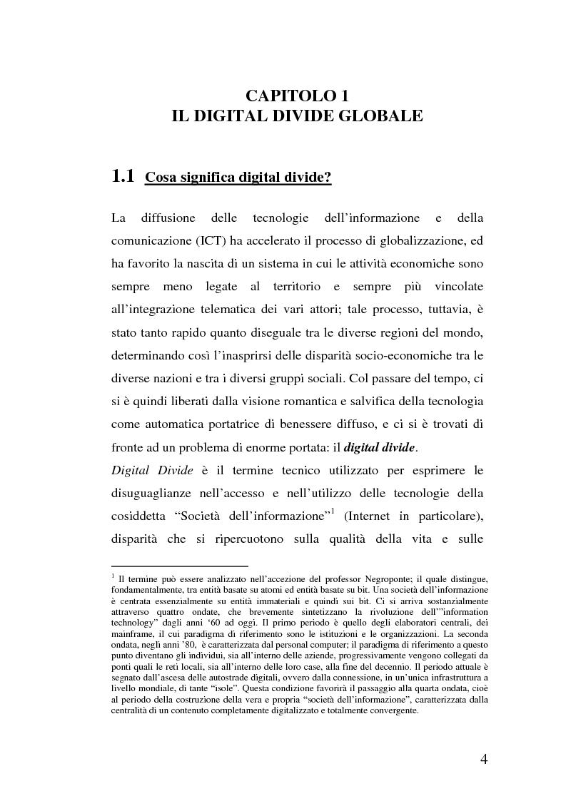 Anteprima della tesi: La multidimensionalità del digital divide e il ruolo della Pubblica Amministrazione, Pagina 3