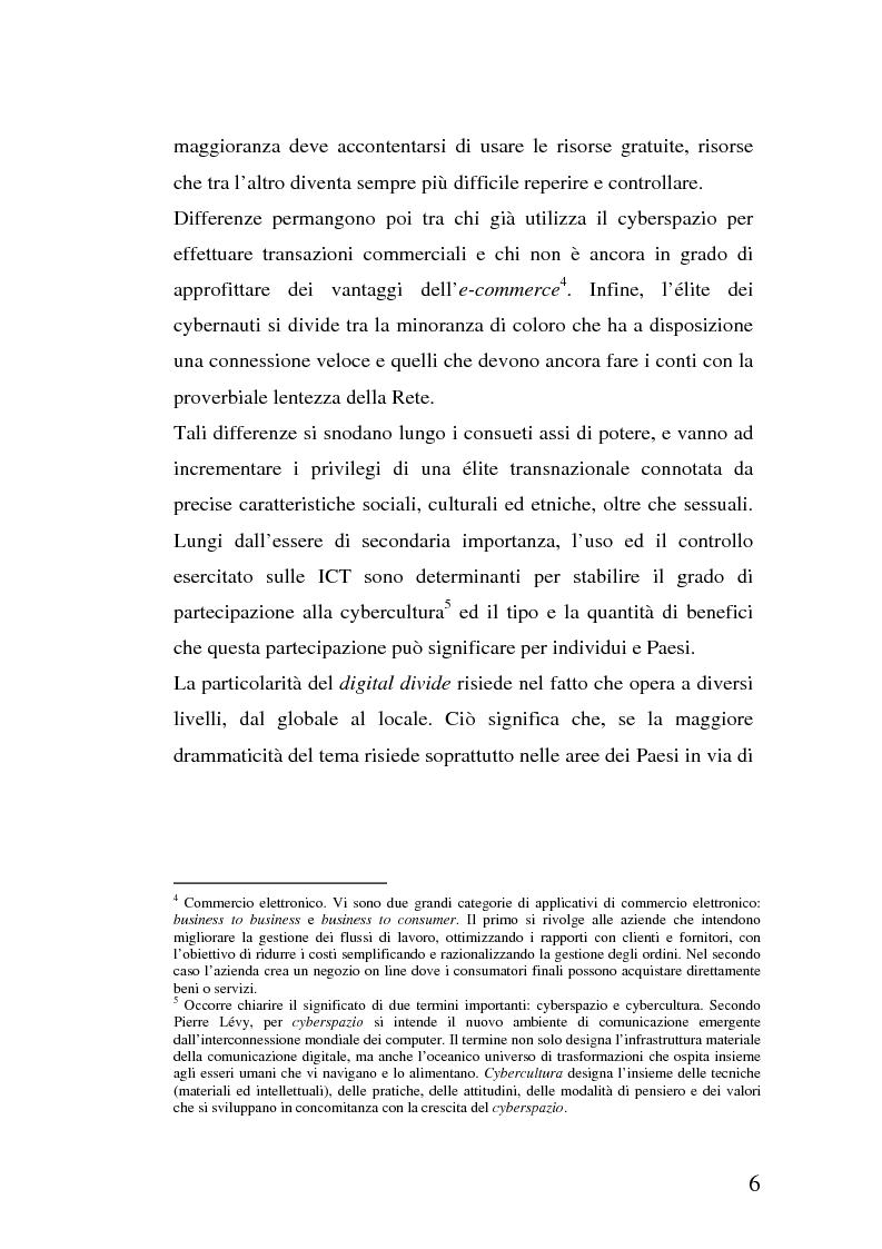 Anteprima della tesi: La multidimensionalità del digital divide e il ruolo della Pubblica Amministrazione, Pagina 5