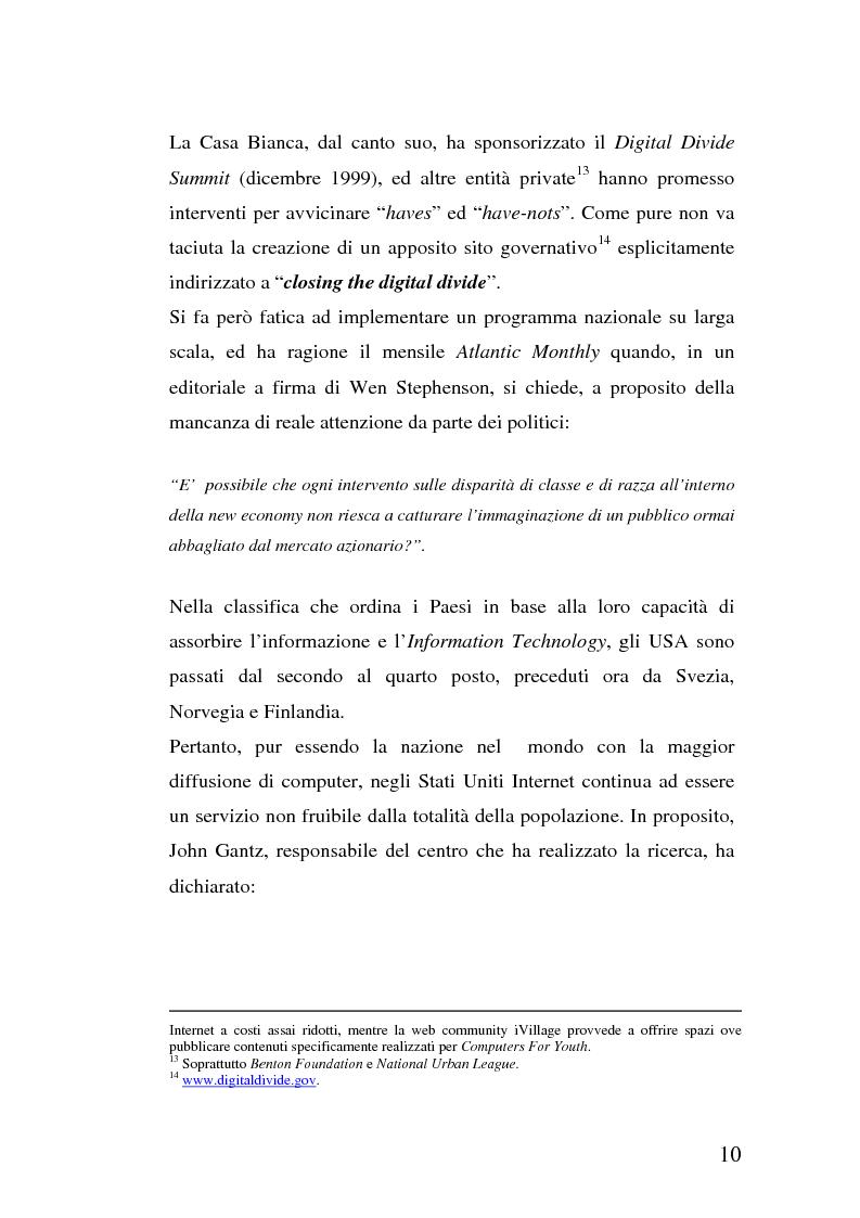 Anteprima della tesi: La multidimensionalità del digital divide e il ruolo della Pubblica Amministrazione, Pagina 9