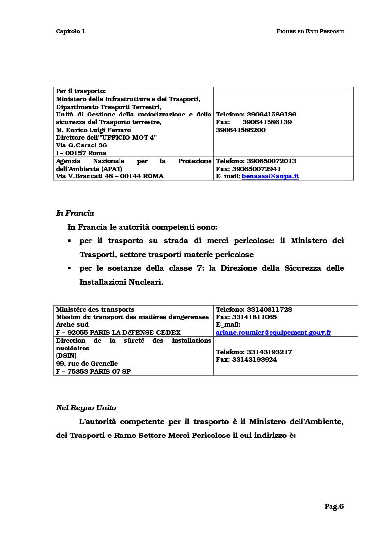 Anteprima della tesi: Il trasporto del combustibile nucleare: regolamenti, fattibilità e verifica sul caso dell'irraggiato del Garigliano, Pagina 6