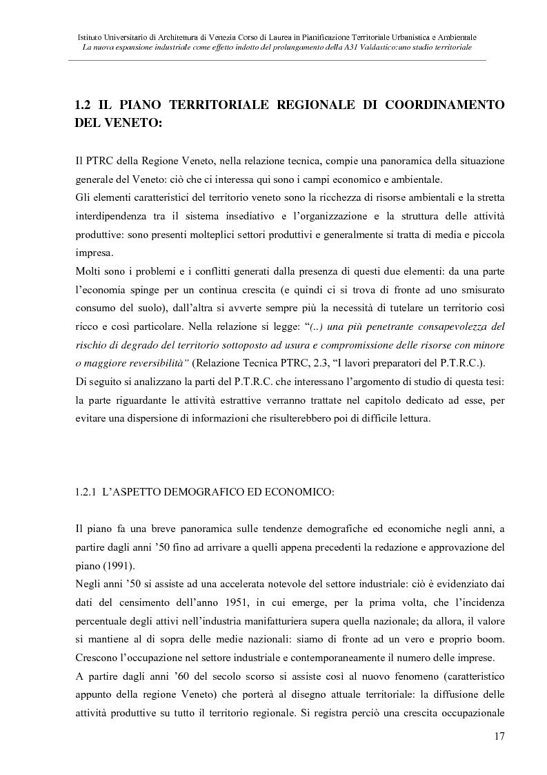 Anteprima della tesi: La nuove espansione produttiva come effetto indotto del prolungamento della A31 Valdastico Sud. Uno studio territoriale, Pagina 11