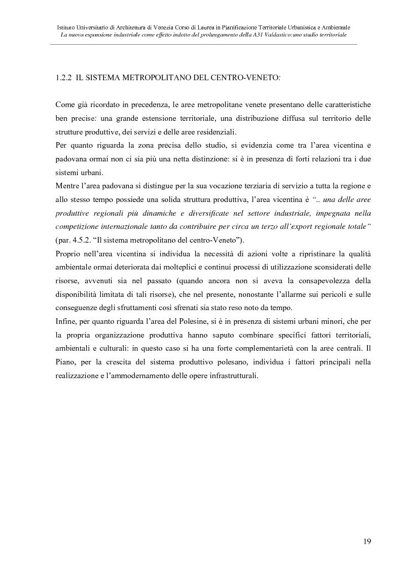 Anteprima della tesi: La nuove espansione produttiva come effetto indotto del prolungamento della A31 Valdastico Sud. Uno studio territoriale, Pagina 13