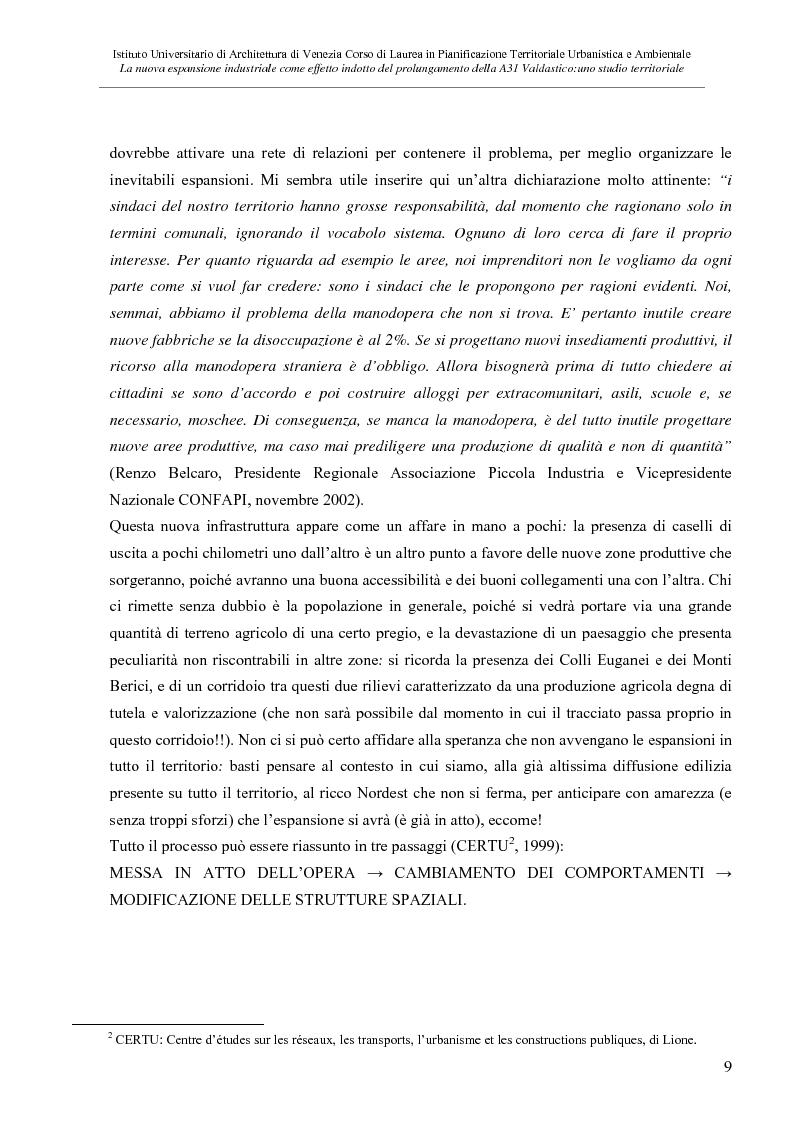 Anteprima della tesi: La nuove espansione produttiva come effetto indotto del prolungamento della A31 Valdastico Sud. Uno studio territoriale, Pagina 3