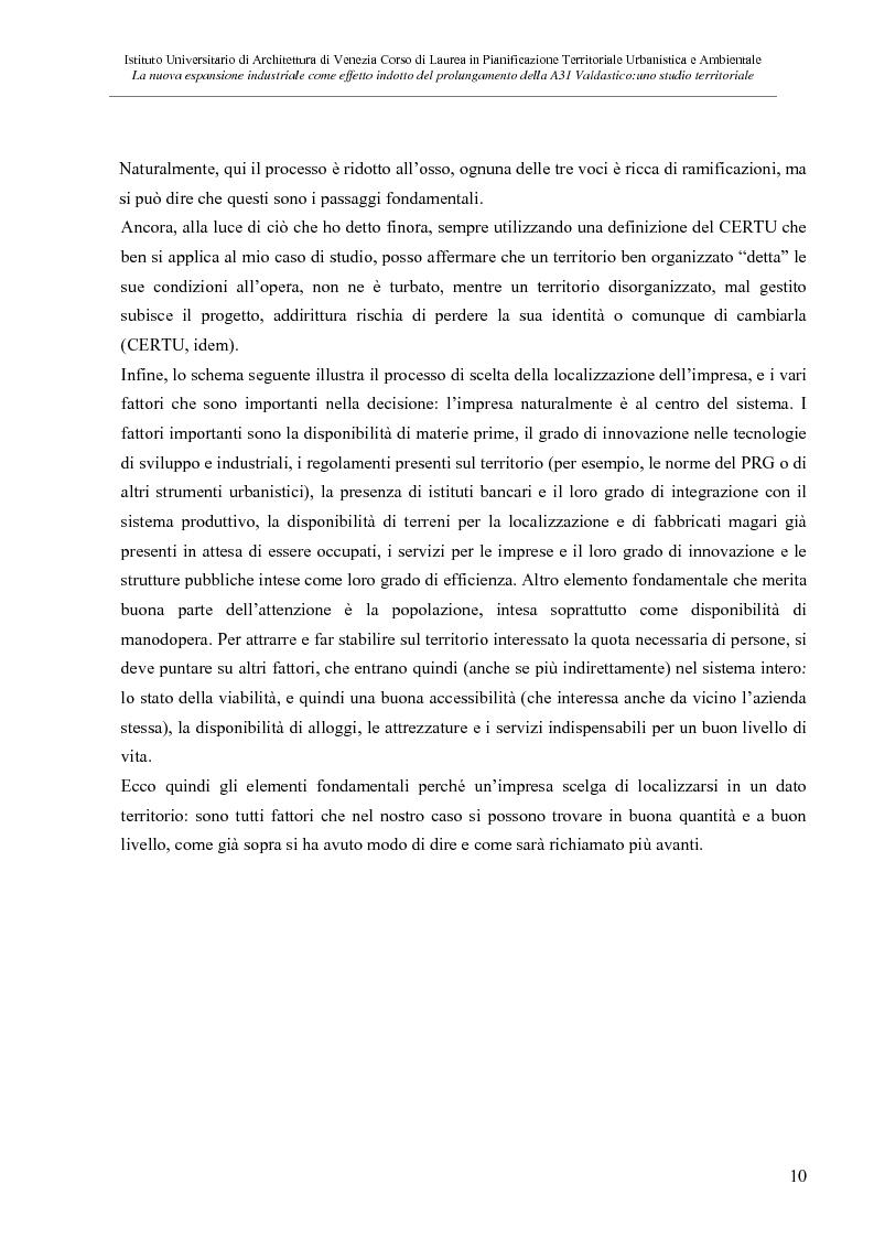 Anteprima della tesi: La nuove espansione produttiva come effetto indotto del prolungamento della A31 Valdastico Sud. Uno studio territoriale, Pagina 4