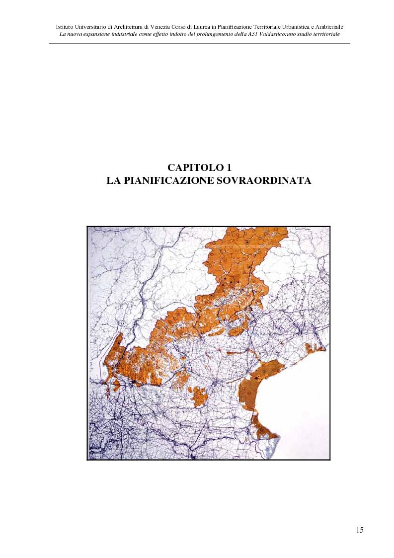 Anteprima della tesi: La nuove espansione produttiva come effetto indotto del prolungamento della A31 Valdastico Sud. Uno studio territoriale, Pagina 9