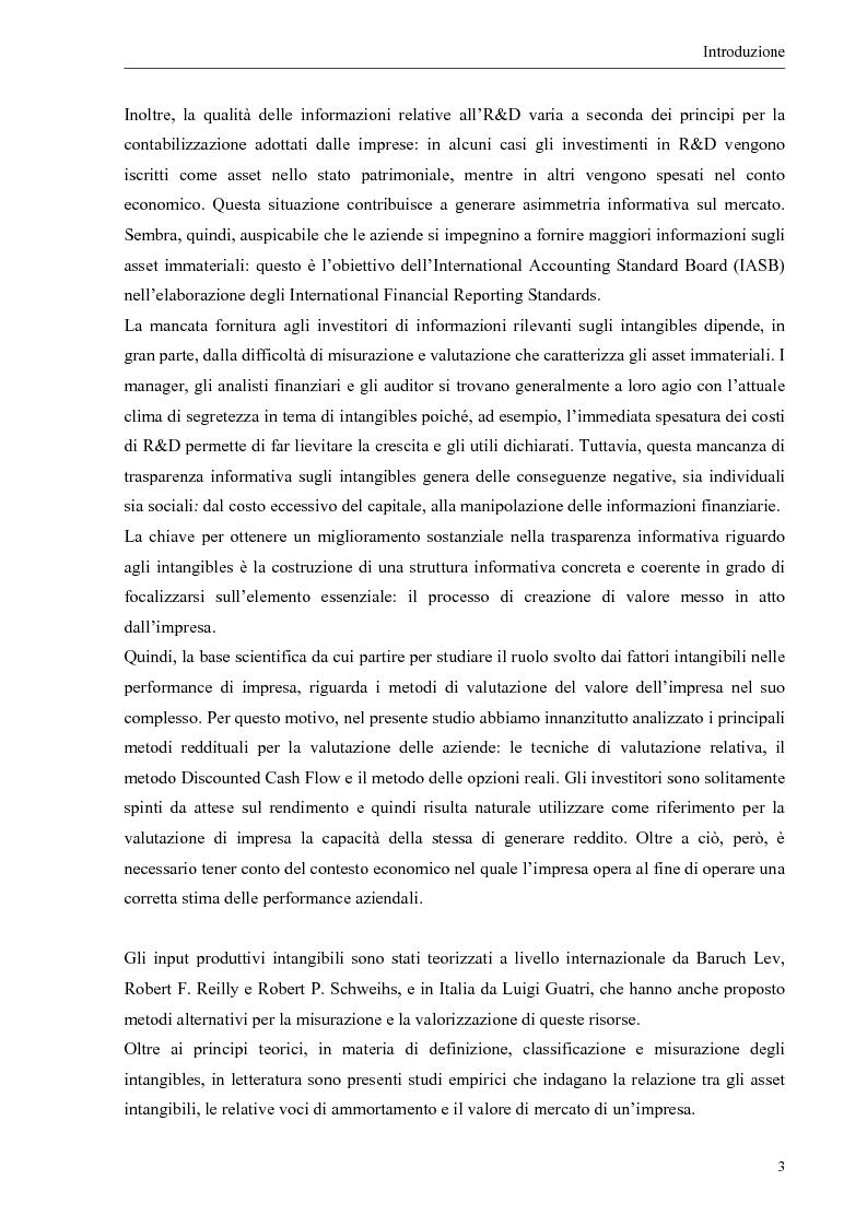 Anteprima della tesi: Il contributo dei fattori intangibili nella valutazione d'impresa, Pagina 3
