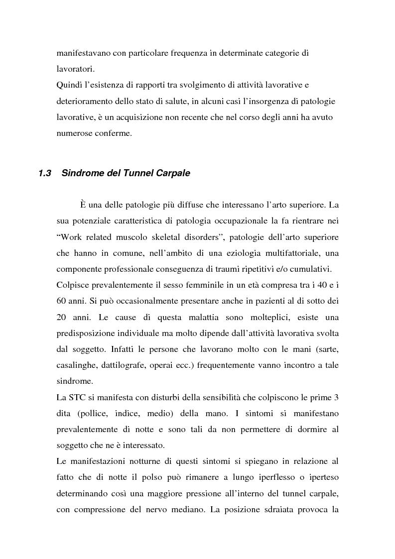 Anteprima della tesi: Ruolo dei fattori psicosociali nella patologia muscolo-scheletrica dell'arto superiore: studio sperimentale, Pagina 2