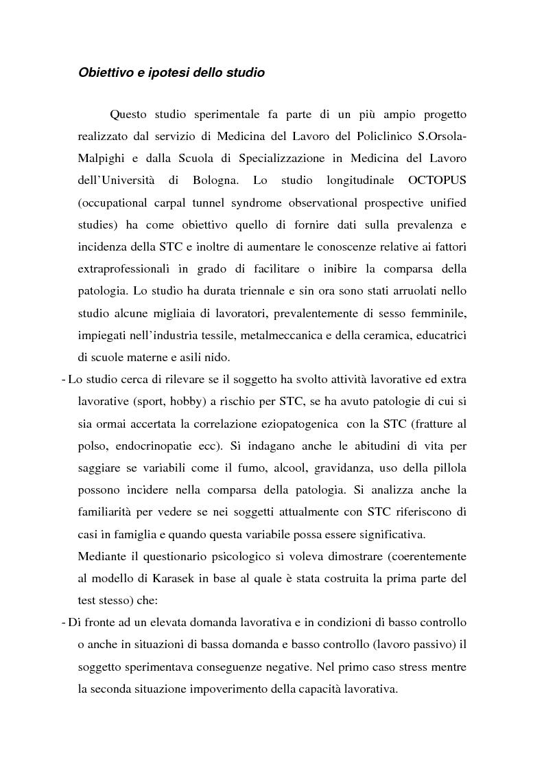 Anteprima della tesi: Ruolo dei fattori psicosociali nella patologia muscolo-scheletrica dell'arto superiore: studio sperimentale, Pagina 8