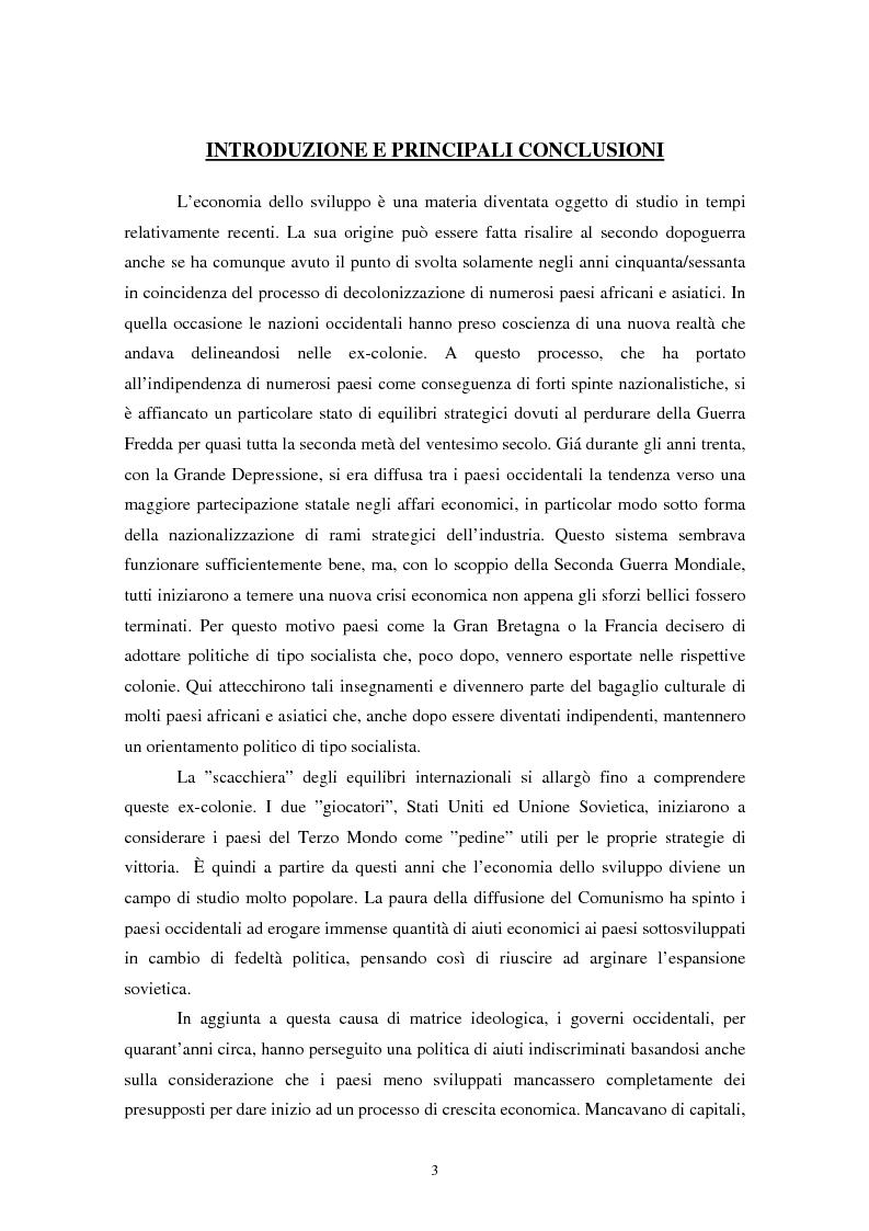 Anteprima della tesi: Peter Bauer: la rivalutazione di un approccio liberista ai problemi del sottosviluppo e del ruolo degli aiuti internazionali, Pagina 1
