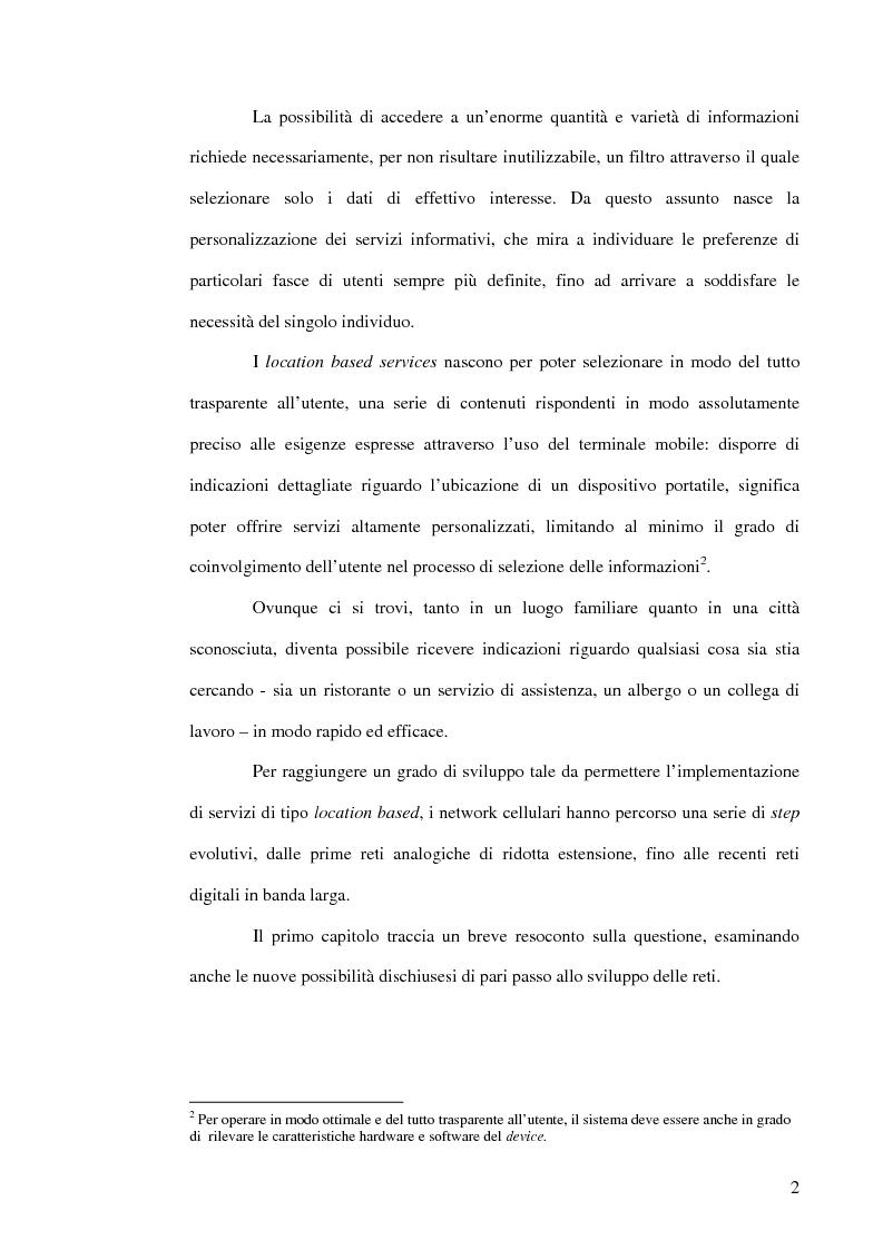 Anteprima della tesi: Location based services: panoramica su servizi e tecnologie, Pagina 2