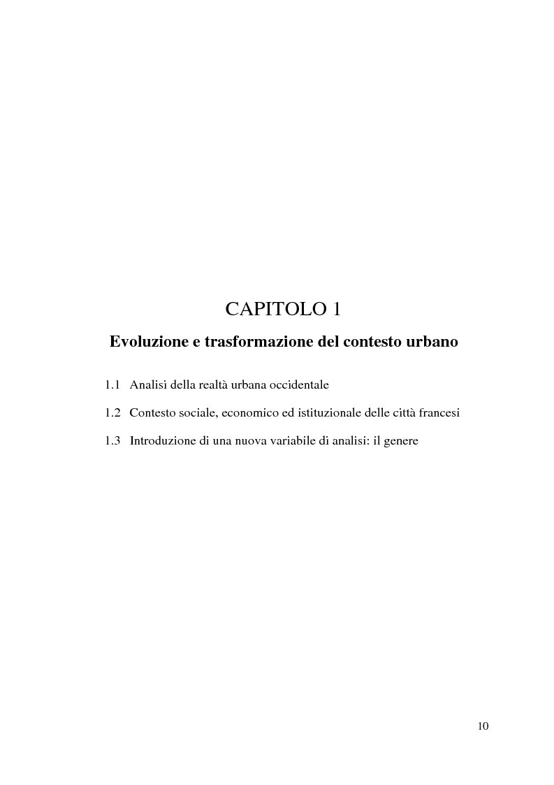 Anteprima della tesi: Le politiche urbane integrate e la questione del genere. Il caso di Grenoble, Pagina 7