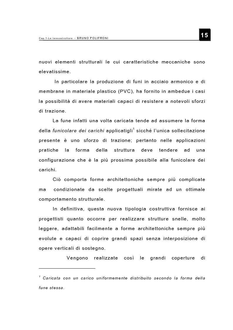 Anteprima della tesi: Le tensostrutture - Possibili soluzioni per la copertura di grandi superfici, Pagina 3