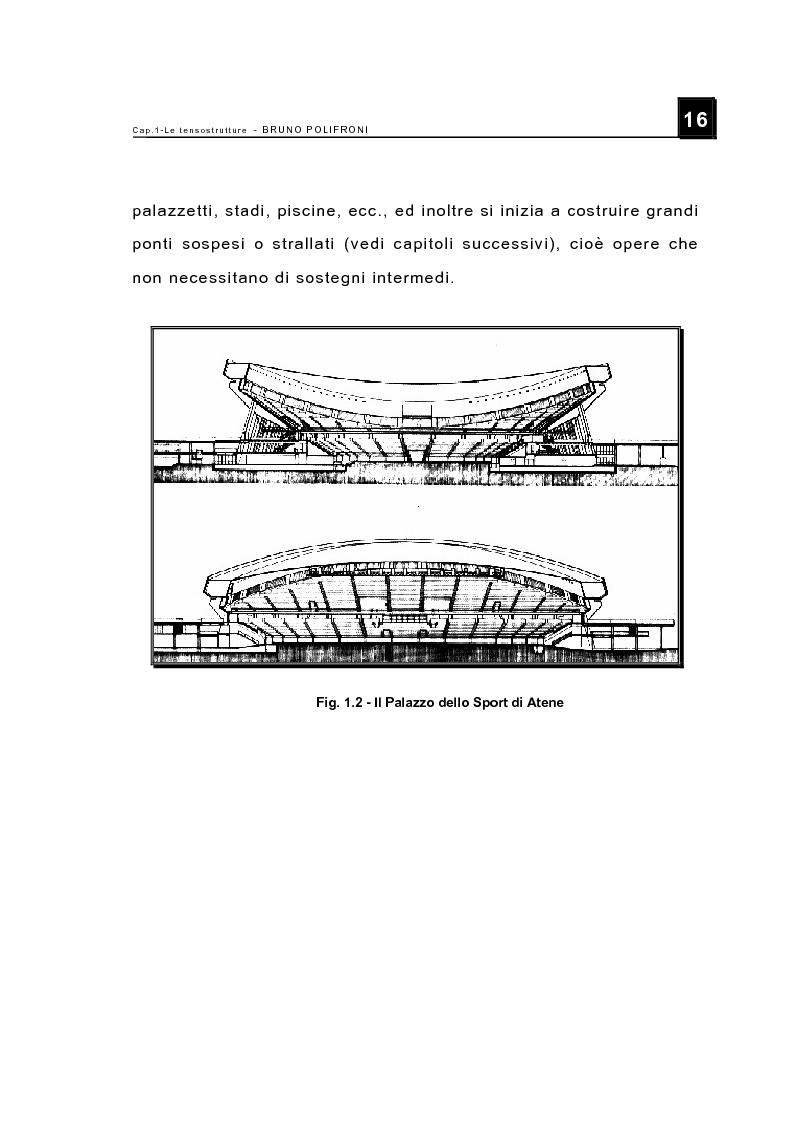 Anteprima della tesi: Le tensostrutture - Possibili soluzioni per la copertura di grandi superfici, Pagina 4
