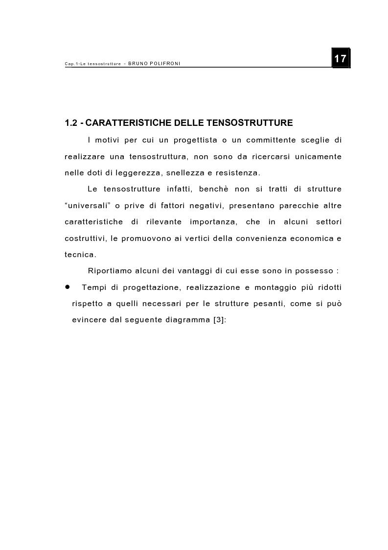 Anteprima della tesi: Le tensostrutture - Possibili soluzioni per la copertura di grandi superfici, Pagina 5