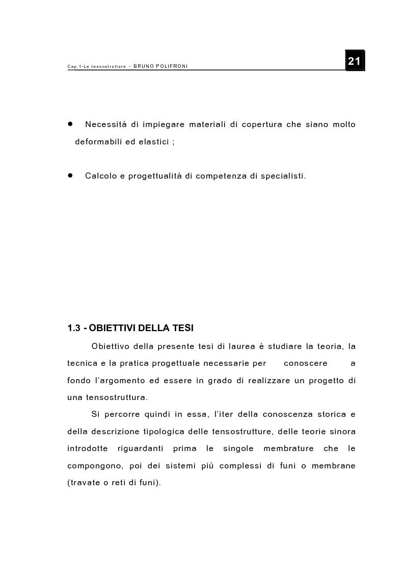 Anteprima della tesi: Le tensostrutture - Possibili soluzioni per la copertura di grandi superfici, Pagina 9