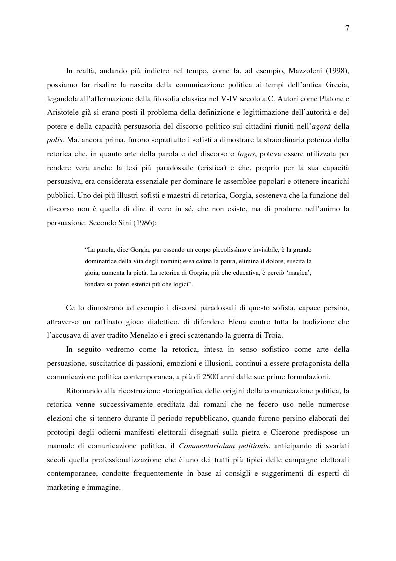 Anteprima della tesi: La comunicazione politica di Forza Italia e del suo leader Silvio Berlusconi, Pagina 5