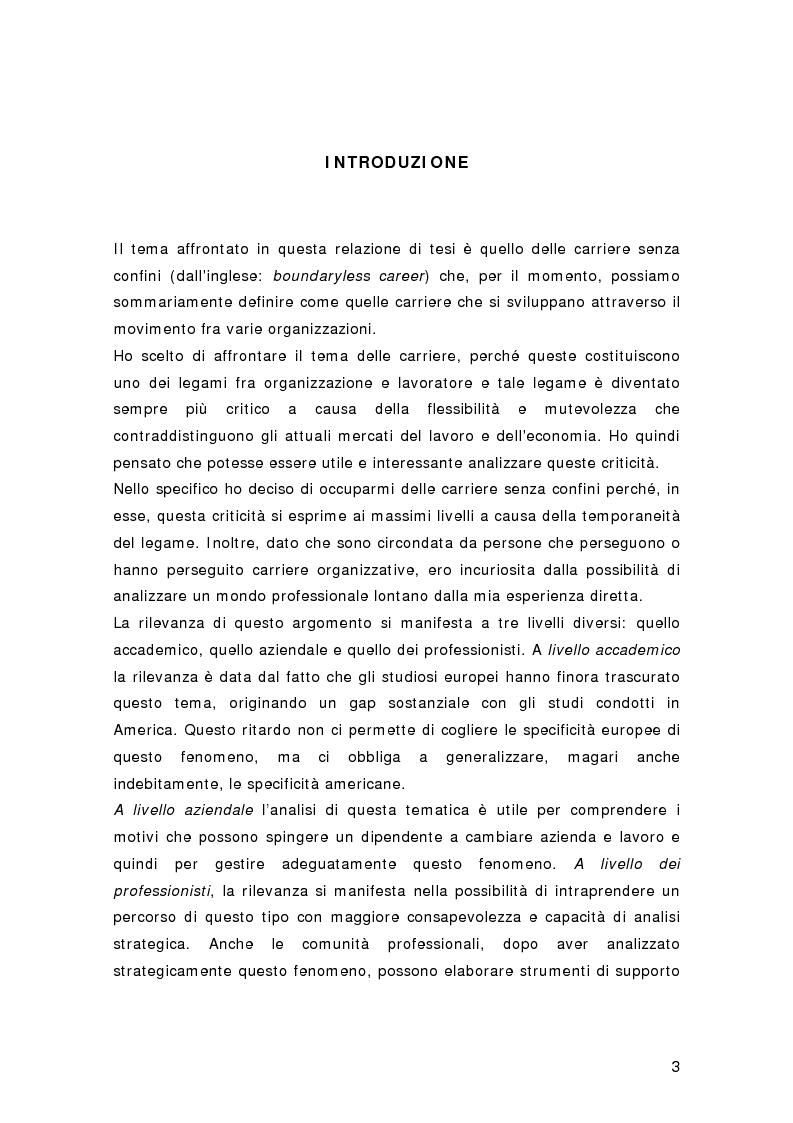 Anteprima della tesi: Nuovi percorsi professionali: le carriere senza confini, Pagina 1