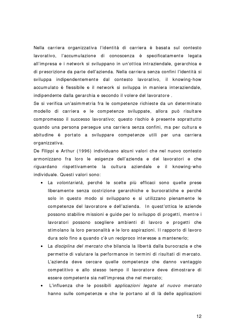 Anteprima della tesi: Nuovi percorsi professionali: le carriere senza confini, Pagina 10
