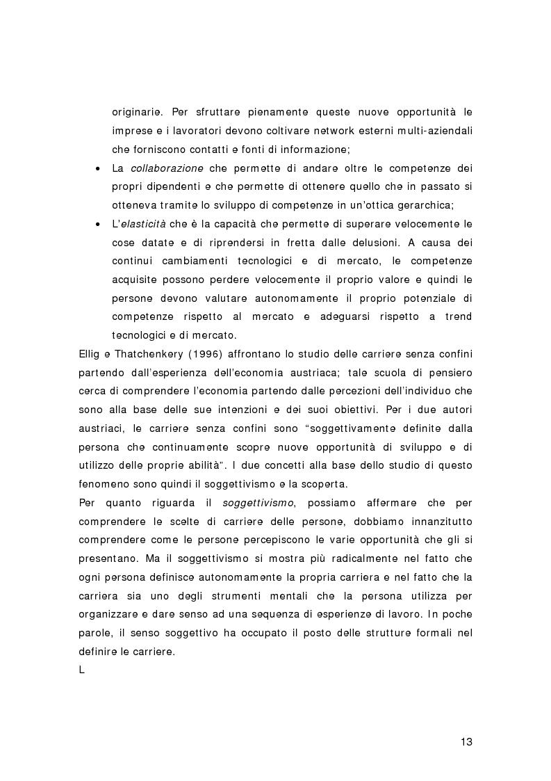 Anteprima della tesi: Nuovi percorsi professionali: le carriere senza confini, Pagina 11