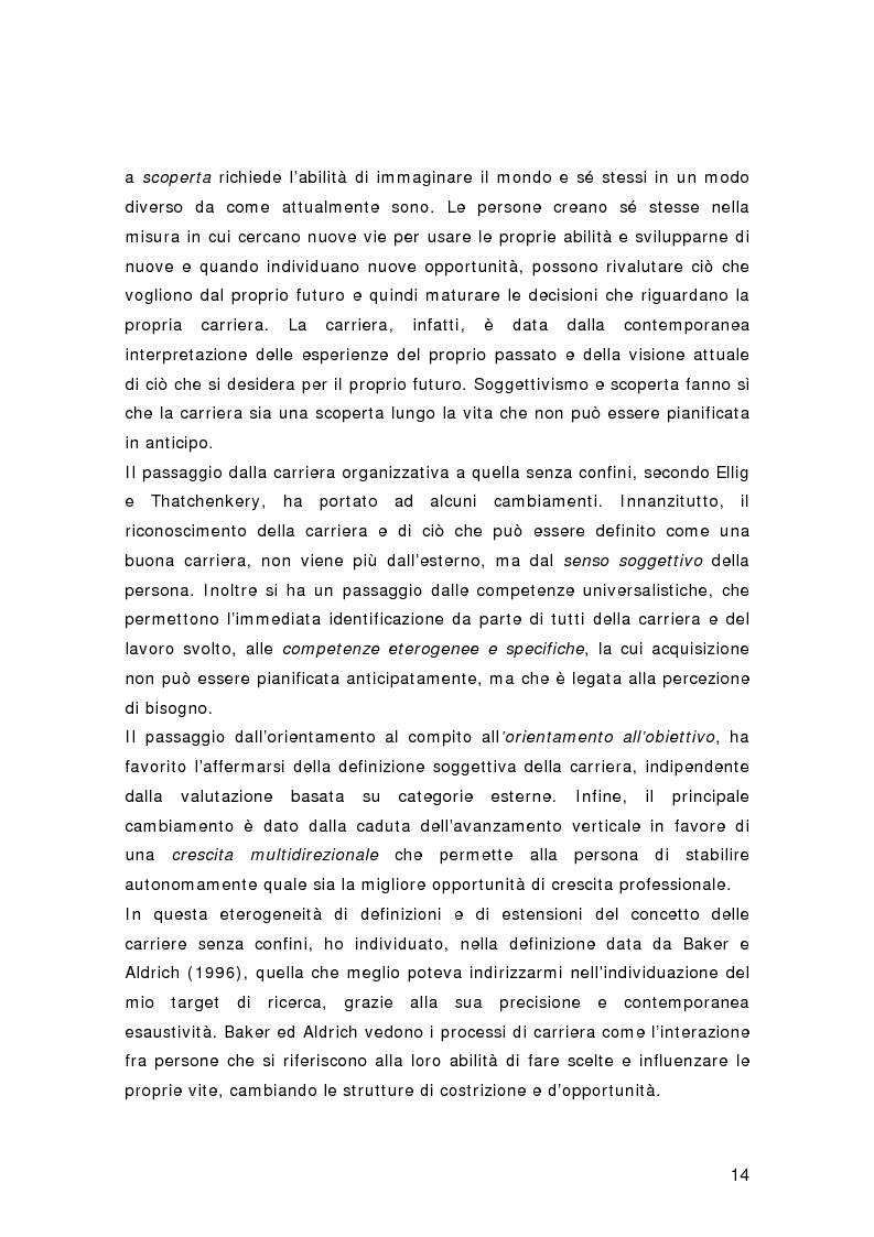 Anteprima della tesi: Nuovi percorsi professionali: le carriere senza confini, Pagina 12