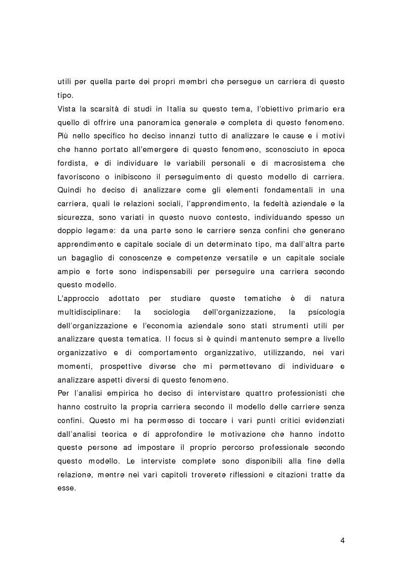 Anteprima della tesi: Nuovi percorsi professionali: le carriere senza confini, Pagina 2