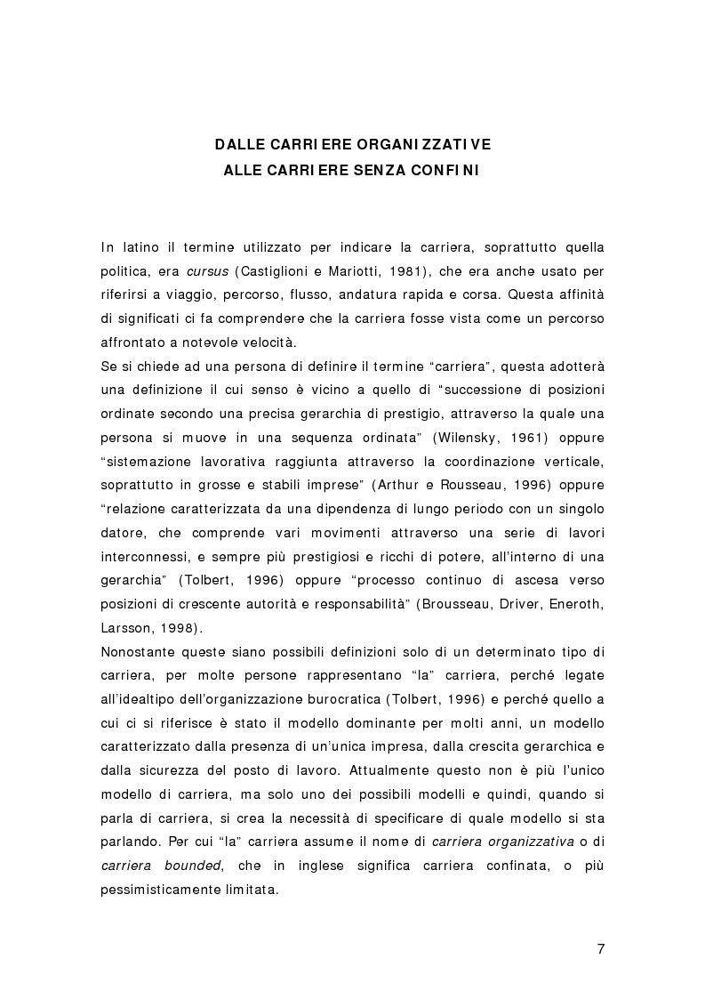 Anteprima della tesi: Nuovi percorsi professionali: le carriere senza confini, Pagina 5