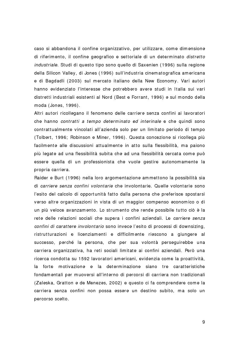 Anteprima della tesi: Nuovi percorsi professionali: le carriere senza confini, Pagina 7