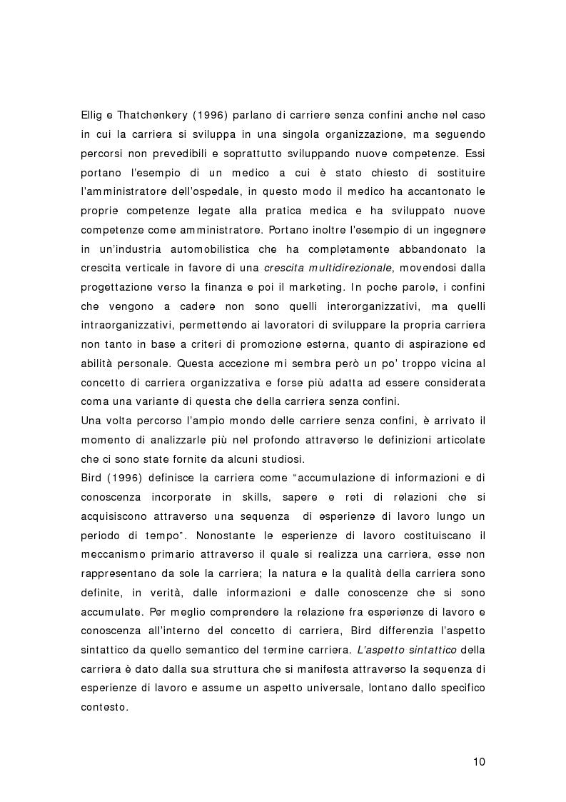Anteprima della tesi: Nuovi percorsi professionali: le carriere senza confini, Pagina 8