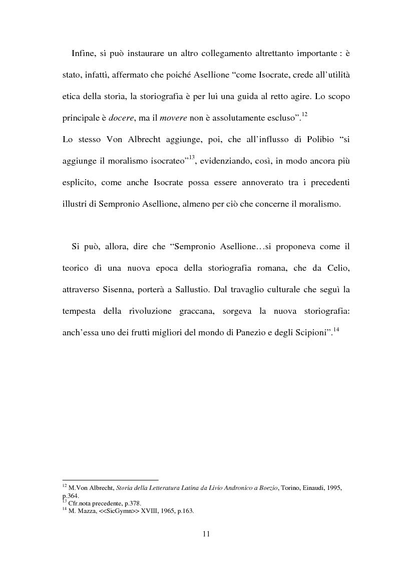 Anteprima della tesi: I frammenti di Sempronio Asellione, Pagina 11