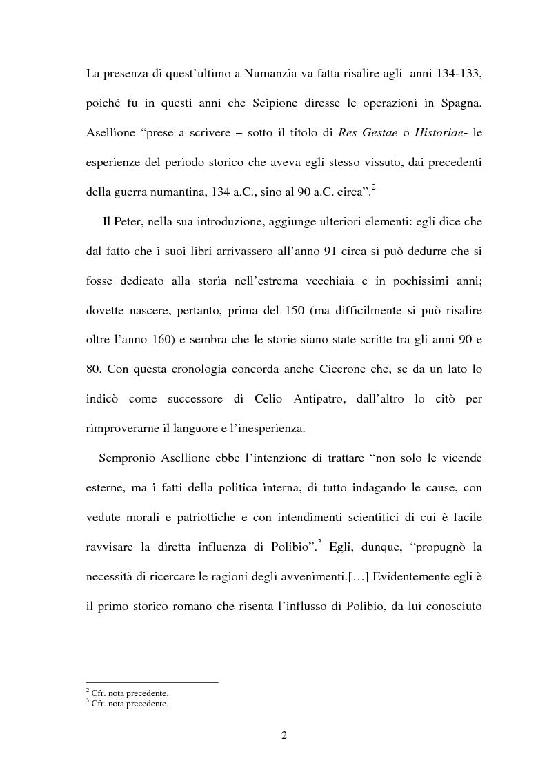 Anteprima della tesi: I frammenti di Sempronio Asellione, Pagina 2