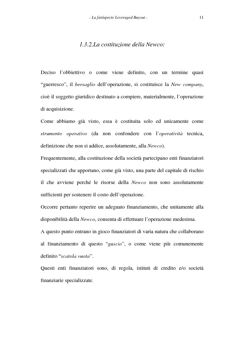 Anteprima della tesi: Il leveraged buyout nel diritto italiano, Pagina 11