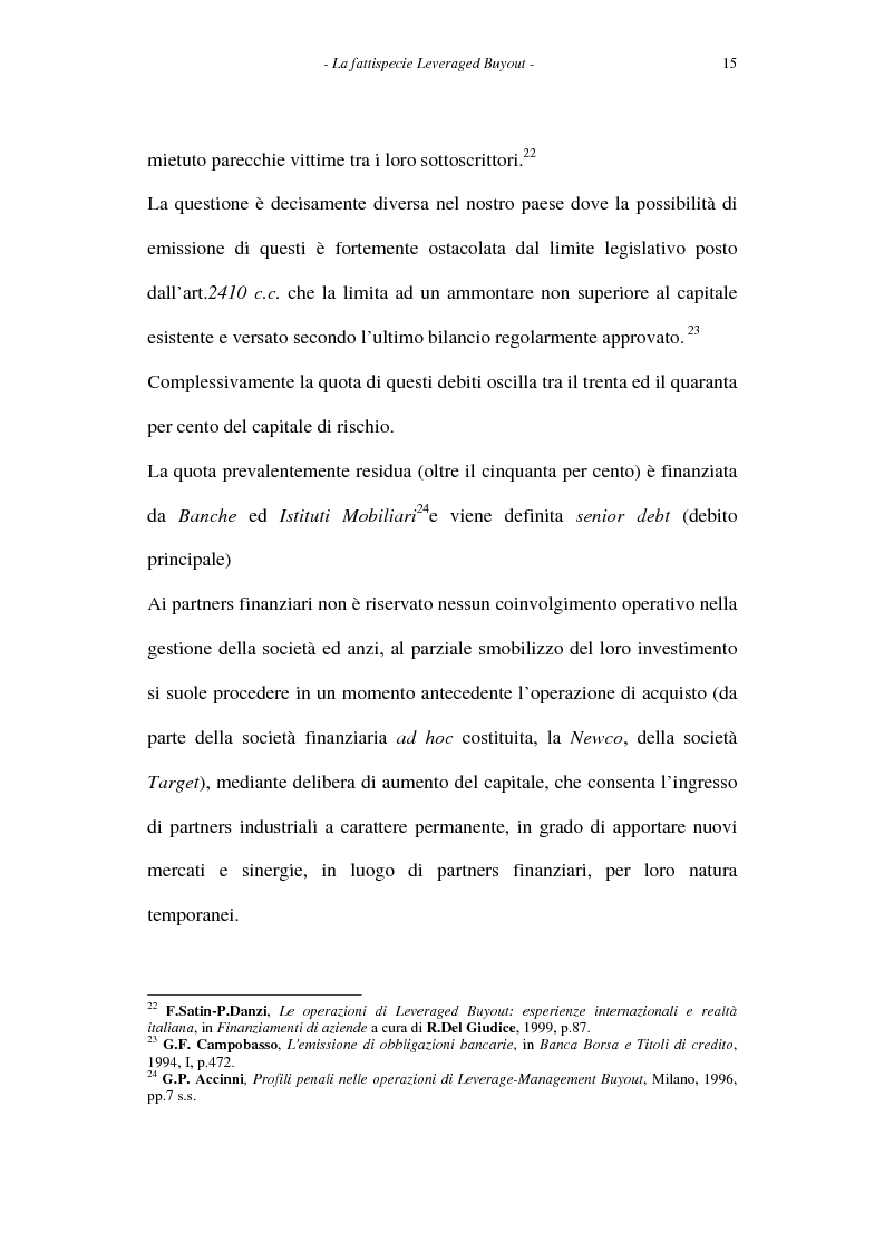Anteprima della tesi: Il leveraged buyout nel diritto italiano, Pagina 15