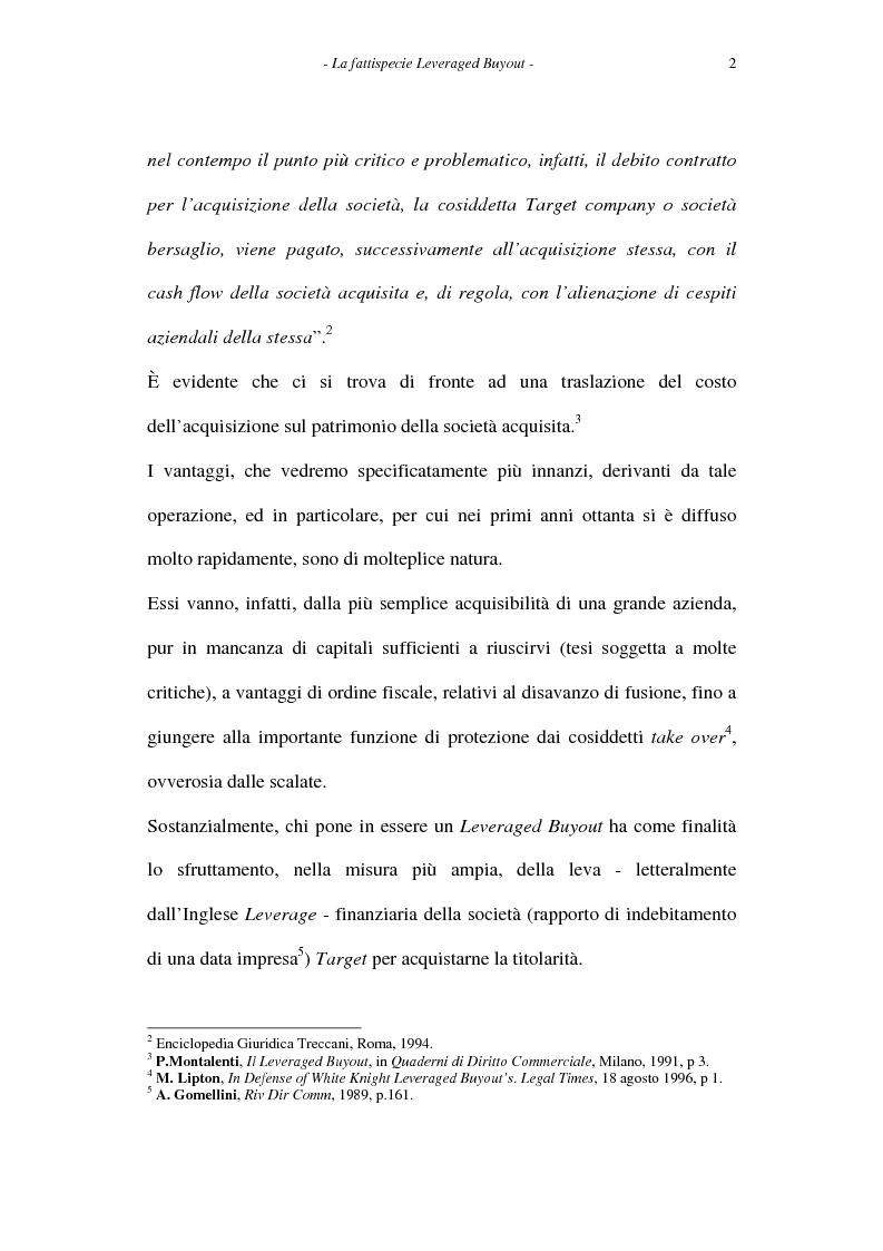 Anteprima della tesi: Il leveraged buyout nel diritto italiano, Pagina 2