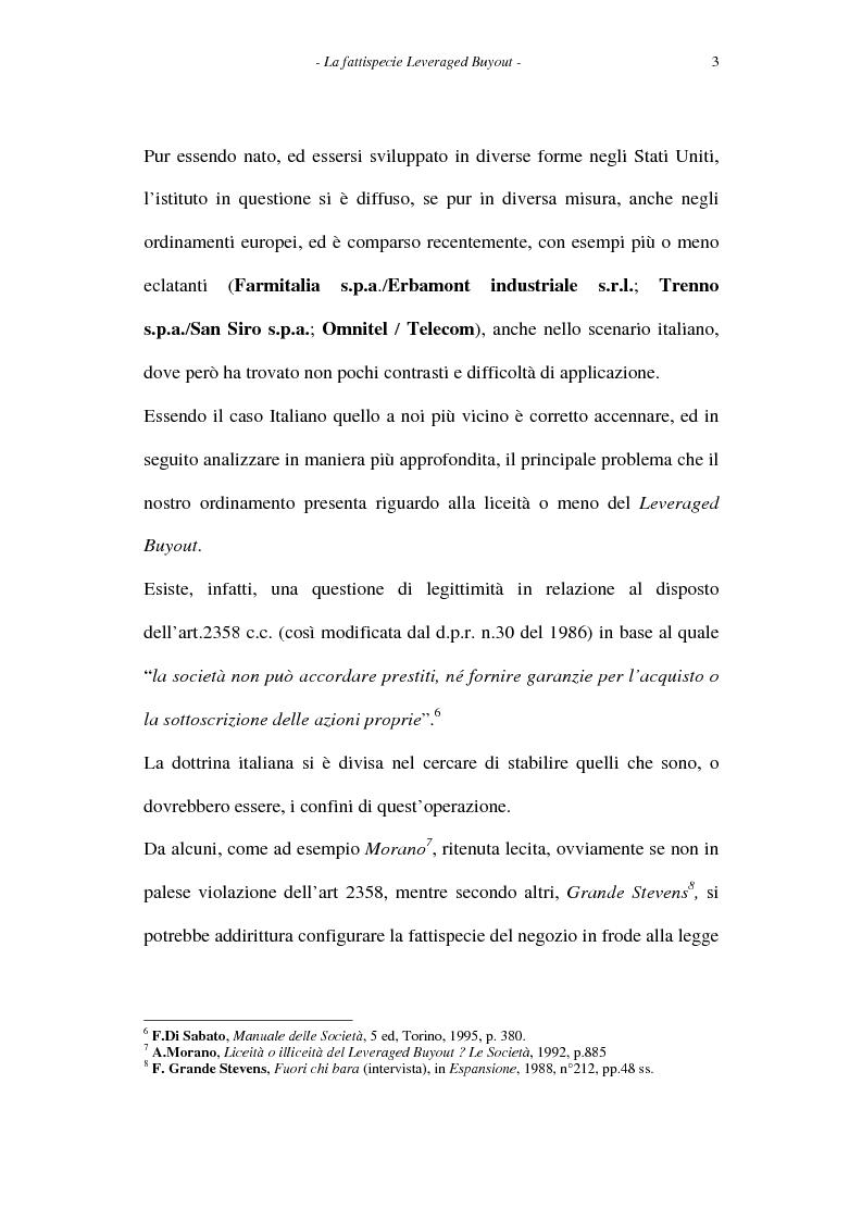 Anteprima della tesi: Il leveraged buyout nel diritto italiano, Pagina 3