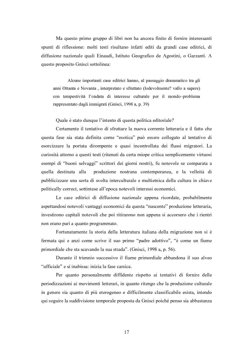 Anteprima della tesi: Scritture a più voci. Il problema dell'autorialità nei primi testi della letteratura italiana della migrazione, Pagina 13