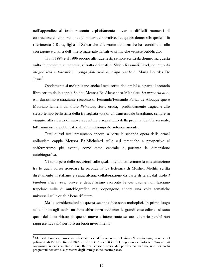 Anteprima della tesi: Scritture a più voci. Il problema dell'autorialità nei primi testi della letteratura italiana della migrazione, Pagina 15